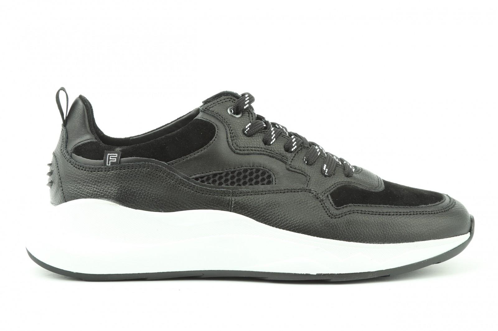 Van Bommel Zwart Leder Sneaker voor dames